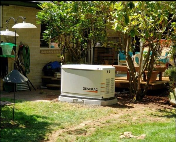 We trenched underground to a 500 gallon propane tank This 22kw powered a 2nd home - a mother in law home.