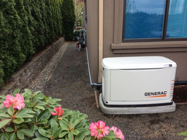 Some cities have side yard clearances from the neighbor's property line. This customer needed to keep the generator from blocking the pathway.
